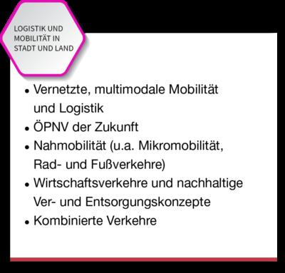 Logistik und Mobilität in Stadt und Land